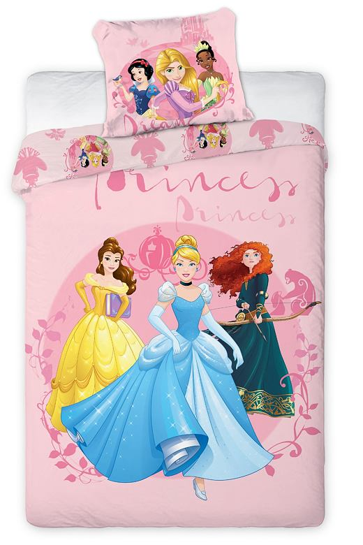 Detské obliečky Princess ružové