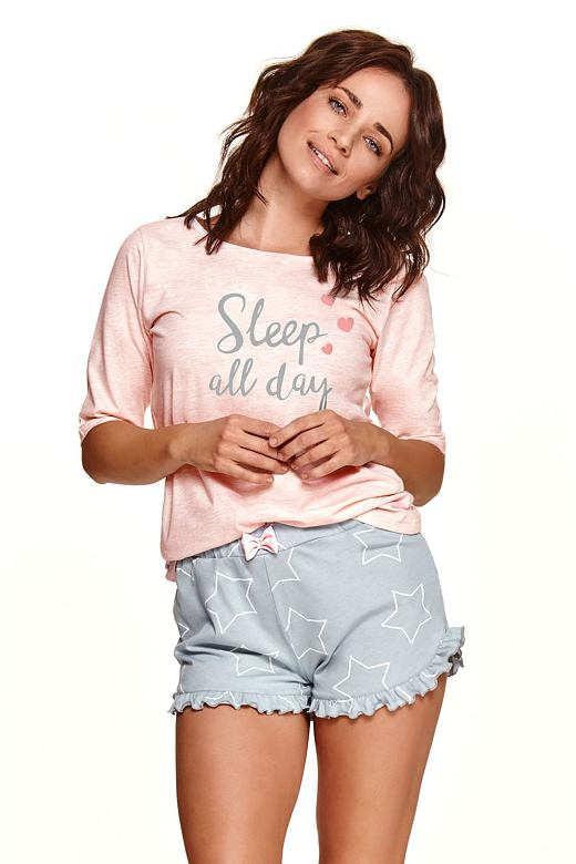 Dámske pyžamo Malwa sleep all day ružové