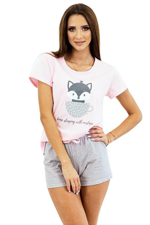 Dámske pyžamo Cat Princess ružové