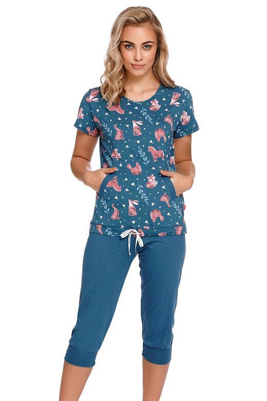 Dámske pyžamo Milli modré so zvieratkami