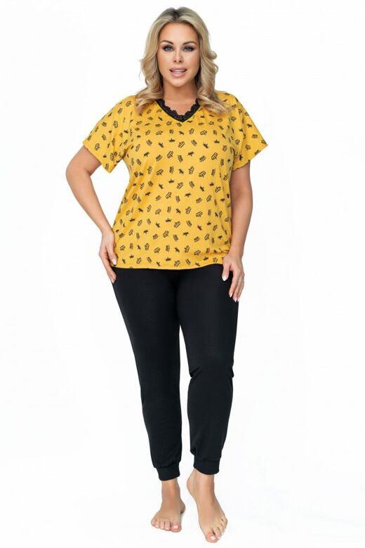 Dámske pyžamo Queen žlté