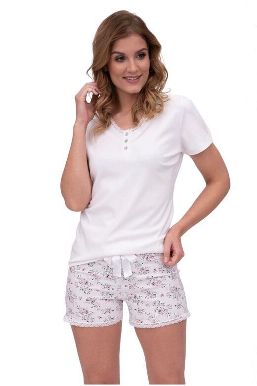 Dámske pyžamo Ema biele krátke