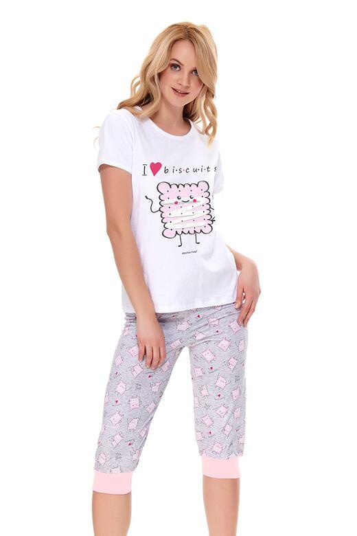 Dámske pyžamo Biscuits biele