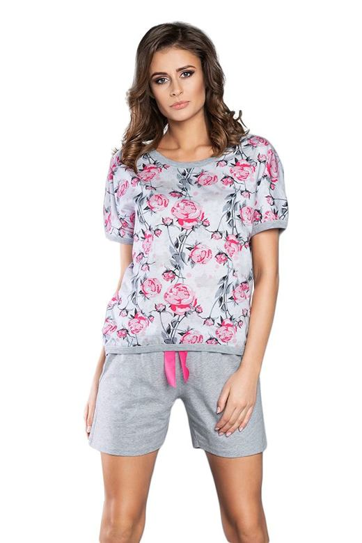 Dámske pyžamo Rose s ružovými ružičkami