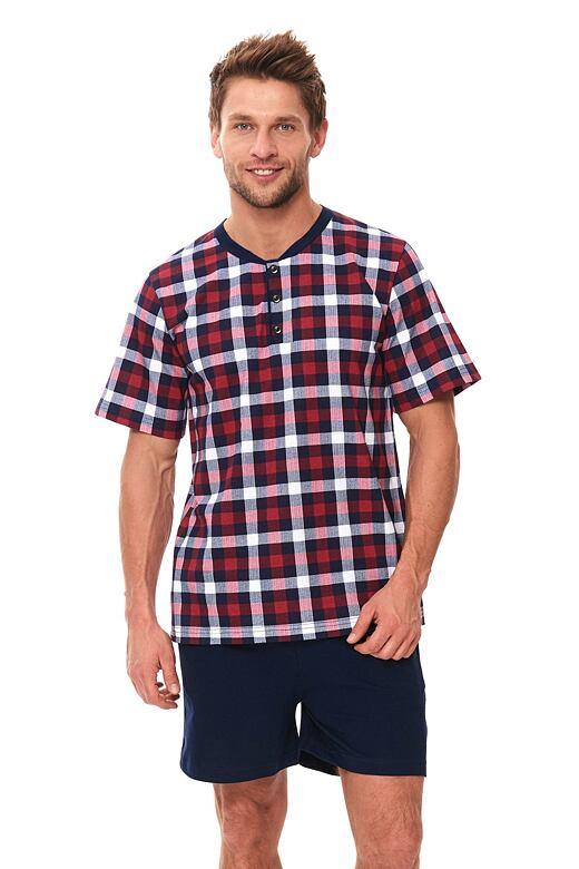 Pánske pyžamo Rowan červené káro