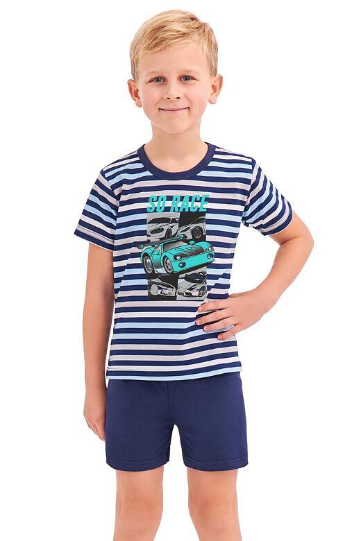 Chlapčenské pyžamo Max modré prúžky