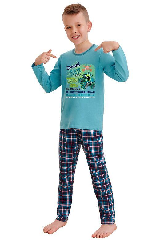 Chlapčenské pyžamo Leo cross power modré