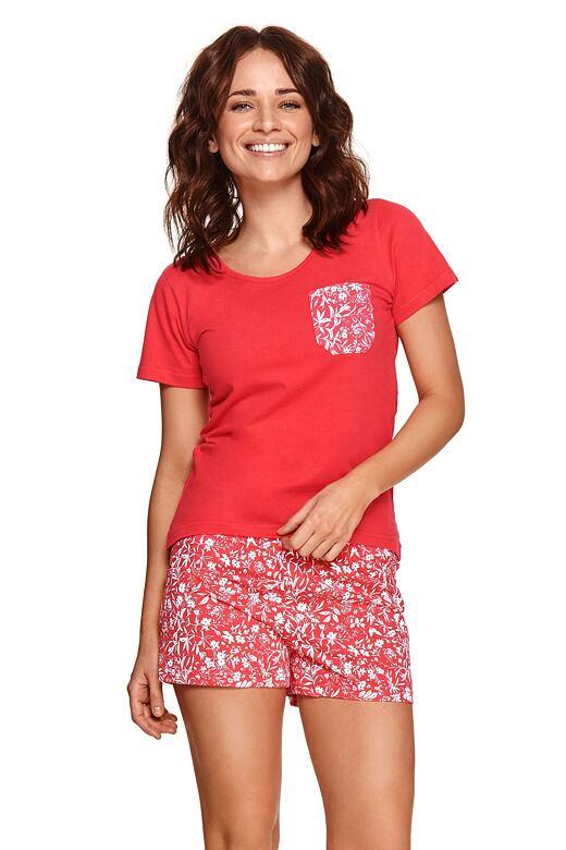 Dámske pyžamo Agnes červené