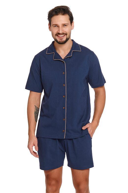 Pánske pyžamo s gombíkmi Dale tmavo modré