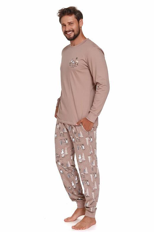 Pánske pyžamo Damian hnedé