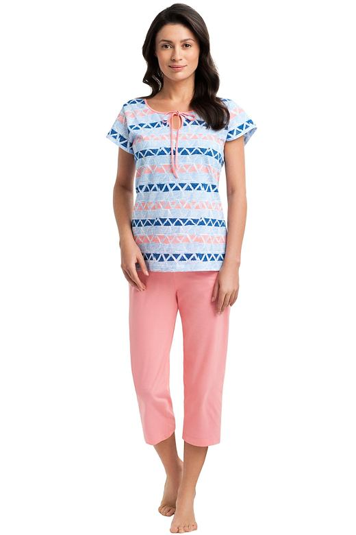 Dámske bavlnené pyžamo Natalia so vzorom