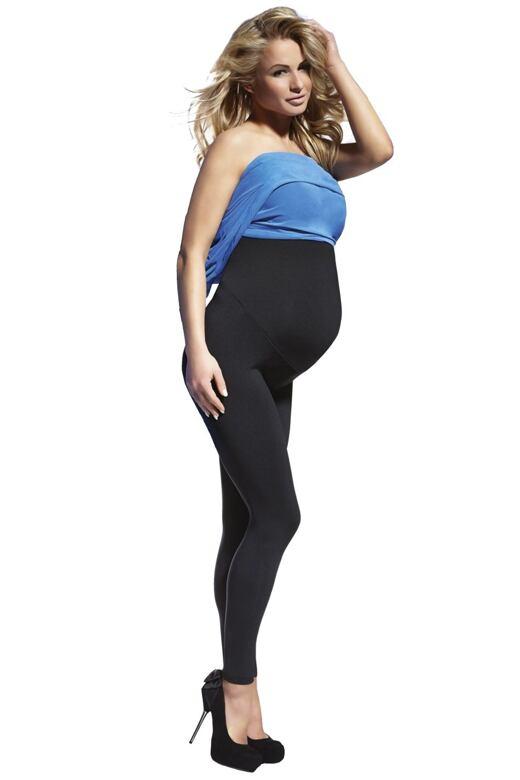 Tehotenské legíny Anabel 200 DEN čierne