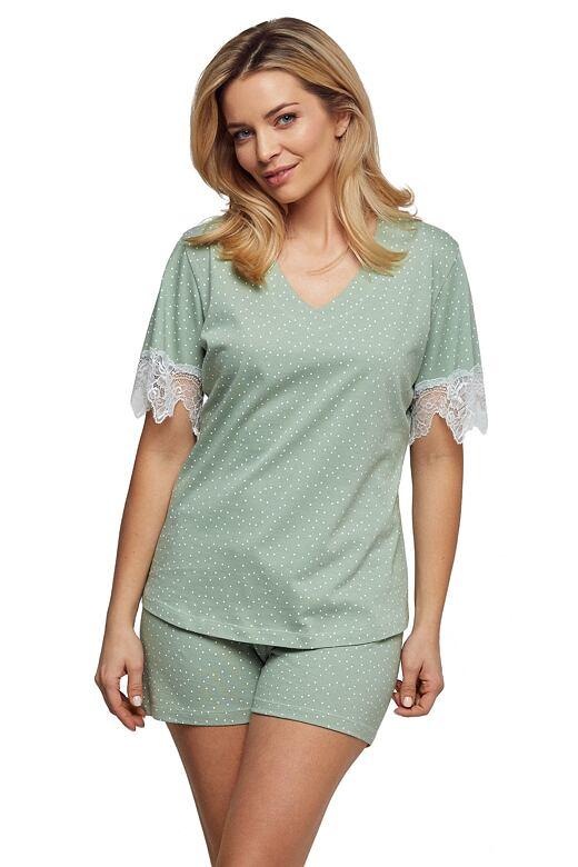 Luxusné dámske pyžamo Olivia zelené