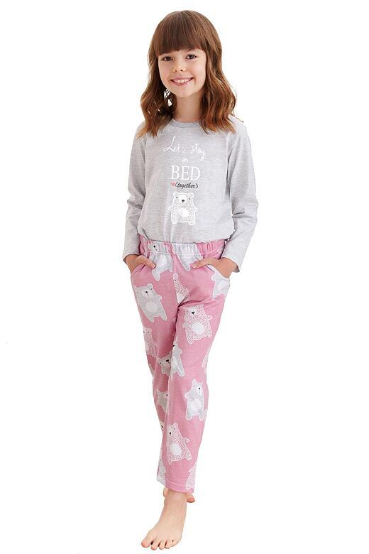 Dievčenské pyžamo Sofia šedé medvedík