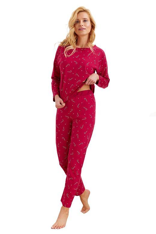 Dámske pyžamo Jurata červené paličky