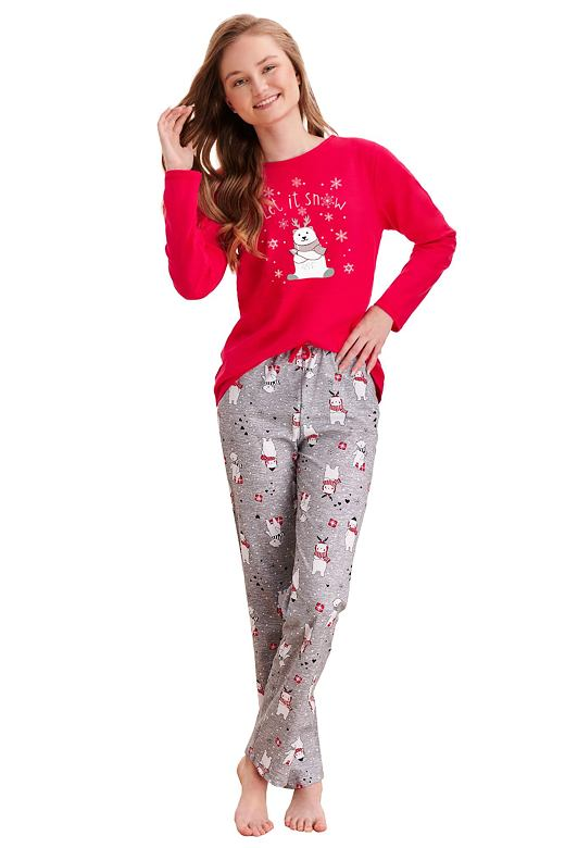 Dievčenské pyžamo Maja červené snow