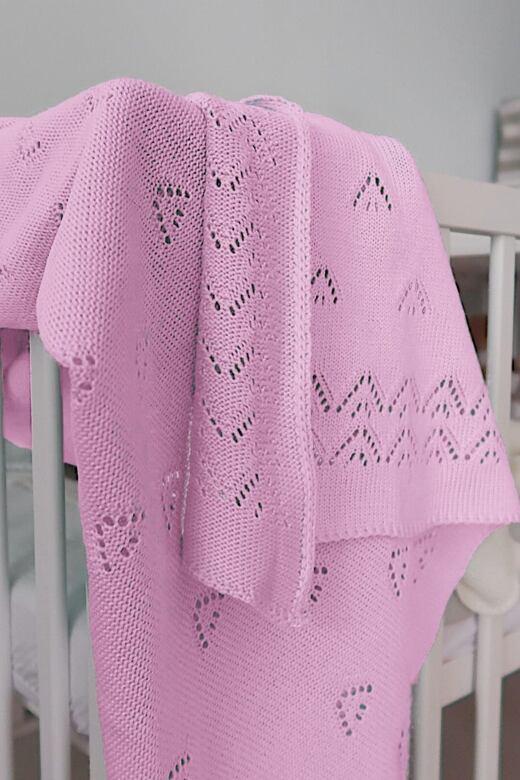 Detská pletená deka Dream svetlo ružová