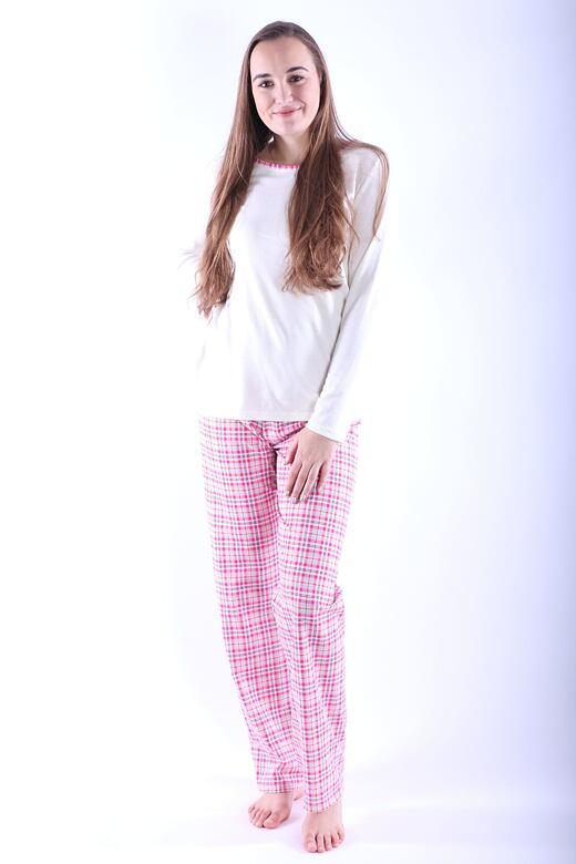 Dámske pyžamo Erika 2 ružové káro
