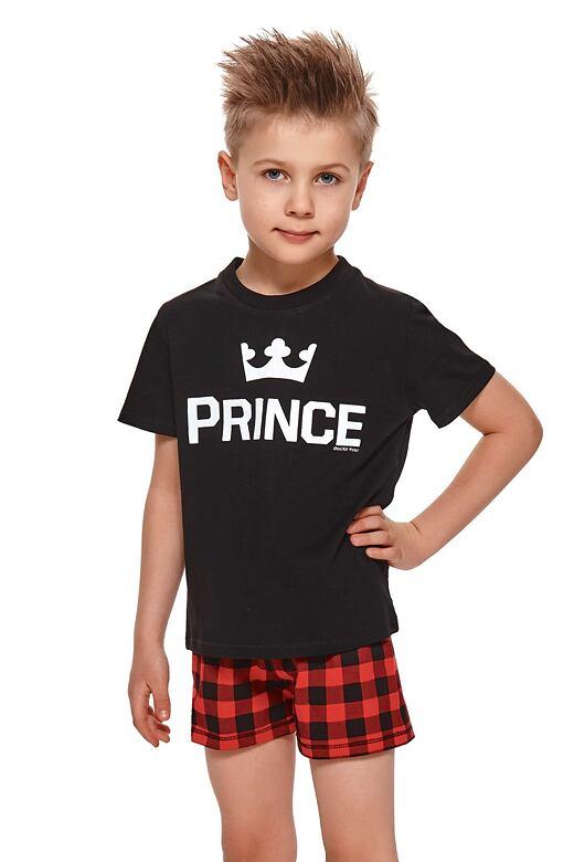 Krátke chlapčenské pyžamo Prince čierne