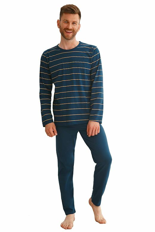 Pánske pyžamo Harry tmavo modré s pruhmi