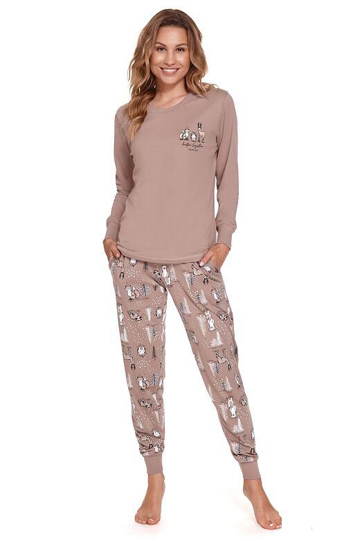 Dámske pyžamo Nami hnedé