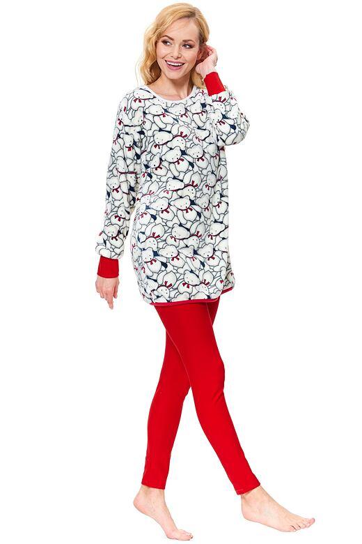 Dámske soft pyžamo Edita Teddy ecru