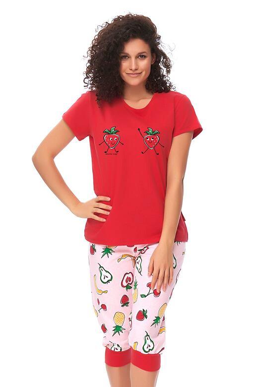Dámske pyžamo Fruits červené