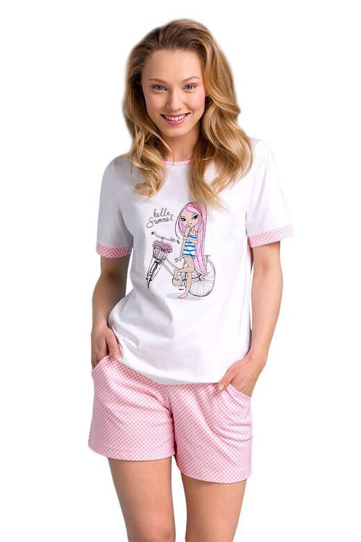 Krátke dámske pyžamo Sisi s potlačou - darčekové balenie