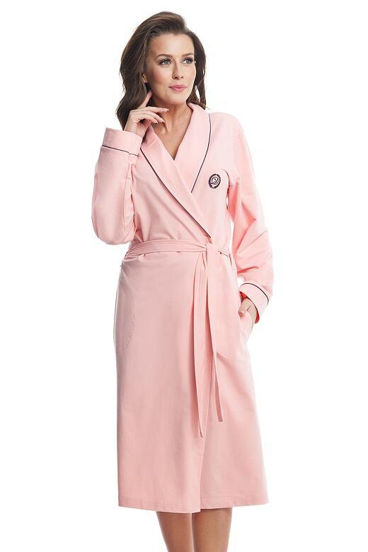 Dámsky bavlnený župan Daphne ružový