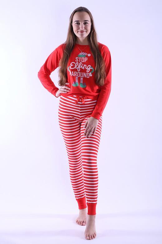 Dámske pyžamo Caytlin červené