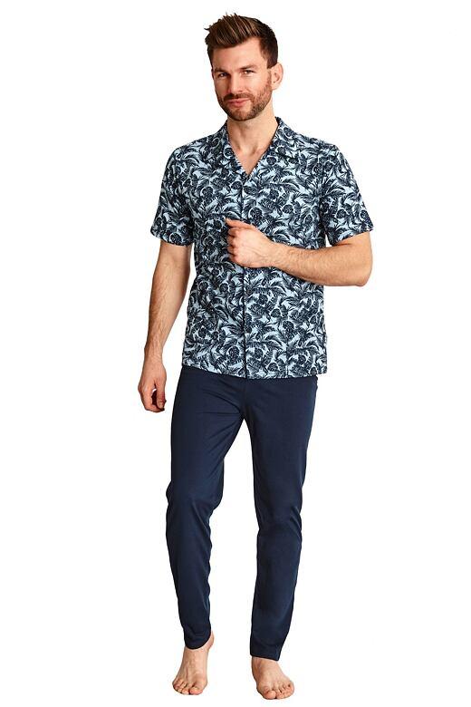 Pánske pyžamo Gracian modré s litmi