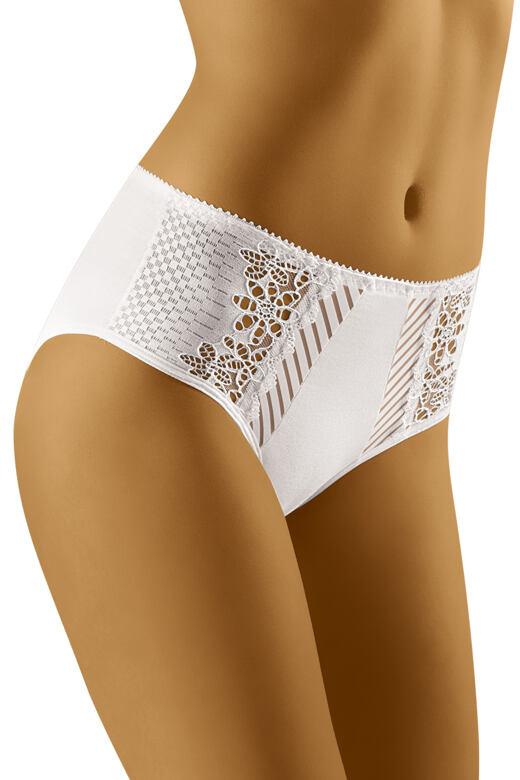 Dámske nohavičky s vyšším pásom Eco-RI biele