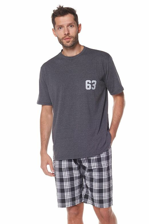Pánske pyžamo Ronny sivé
