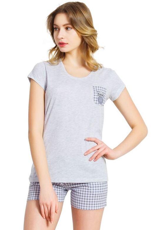 Dámske sivé bavlnené pyžamo Heather
