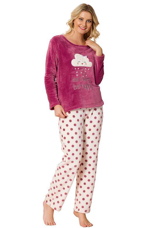 Soft dámske pyžamo Crystal s bodkami