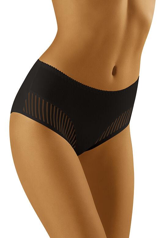 Dámske nohavičky s vyšším pásom Eco-QI čierne