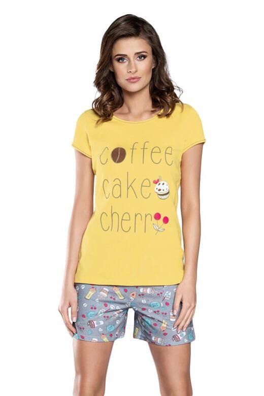 Dámske krátke pyžamo Toffi žlté