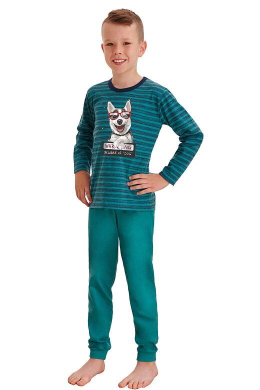 Dlhé chlapčenské pyžamo Max zelené