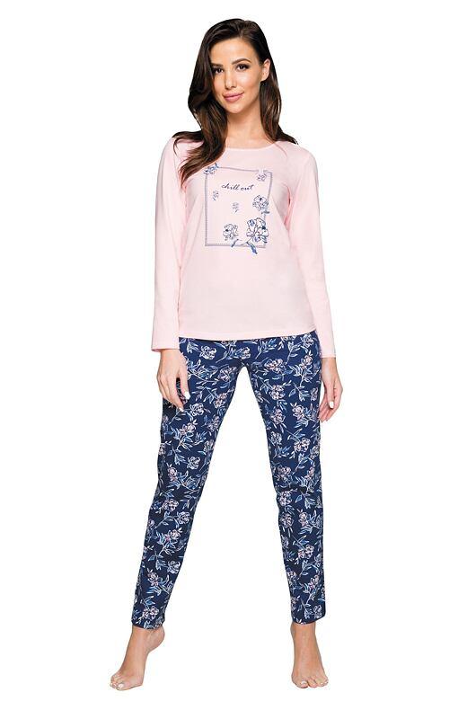 Dámske pyžamo Regi chill out ružové
