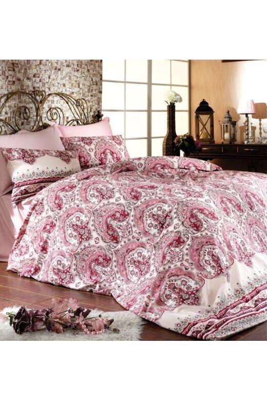 Luxusné saténové obliečky Brotex Simba ružové