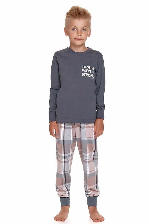 Chlapčenské pyžamo Together tmavo sivé