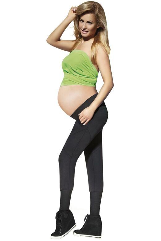 Tehotenské legíny Veronica 200 DEN čierne