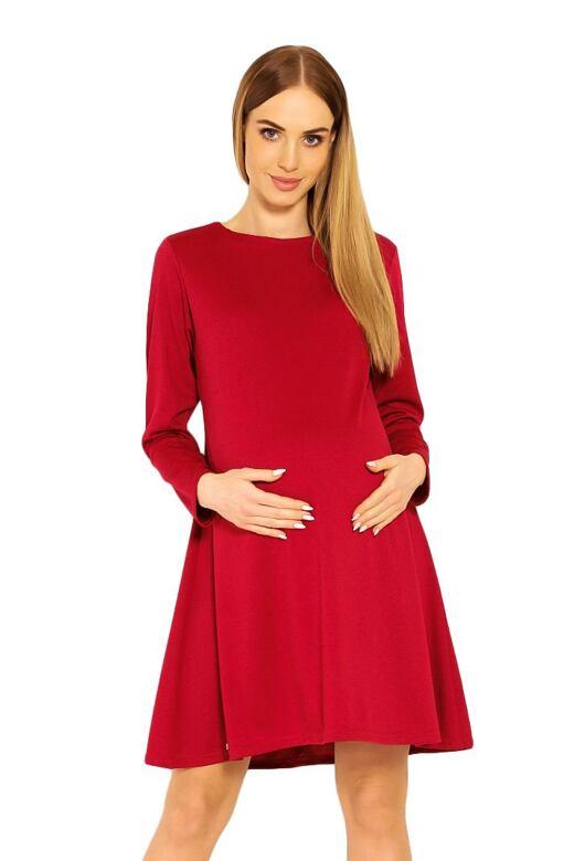 Tehotenské šaty Nathy červené