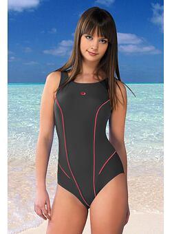 608e929d67 Nové Doprava zadarmo Jednodielne plavky Kayla šedé