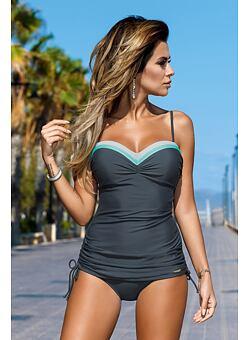 Doprava zadarmo Dámske plavky tankiny Tiffany sivé ... 6657d38f6b