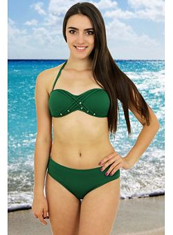 7f3f36612 -46% Dvojdielne zelené plavky Rock Star