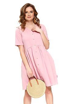 93866567d9 Nové Doprava zadarmo Bavlnené materské šaty Anna ružové