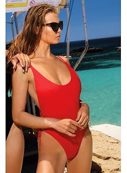 3510ae05a798 Nové Doprava zadarmo Jednodielne plavky Pamela Baywatch červené