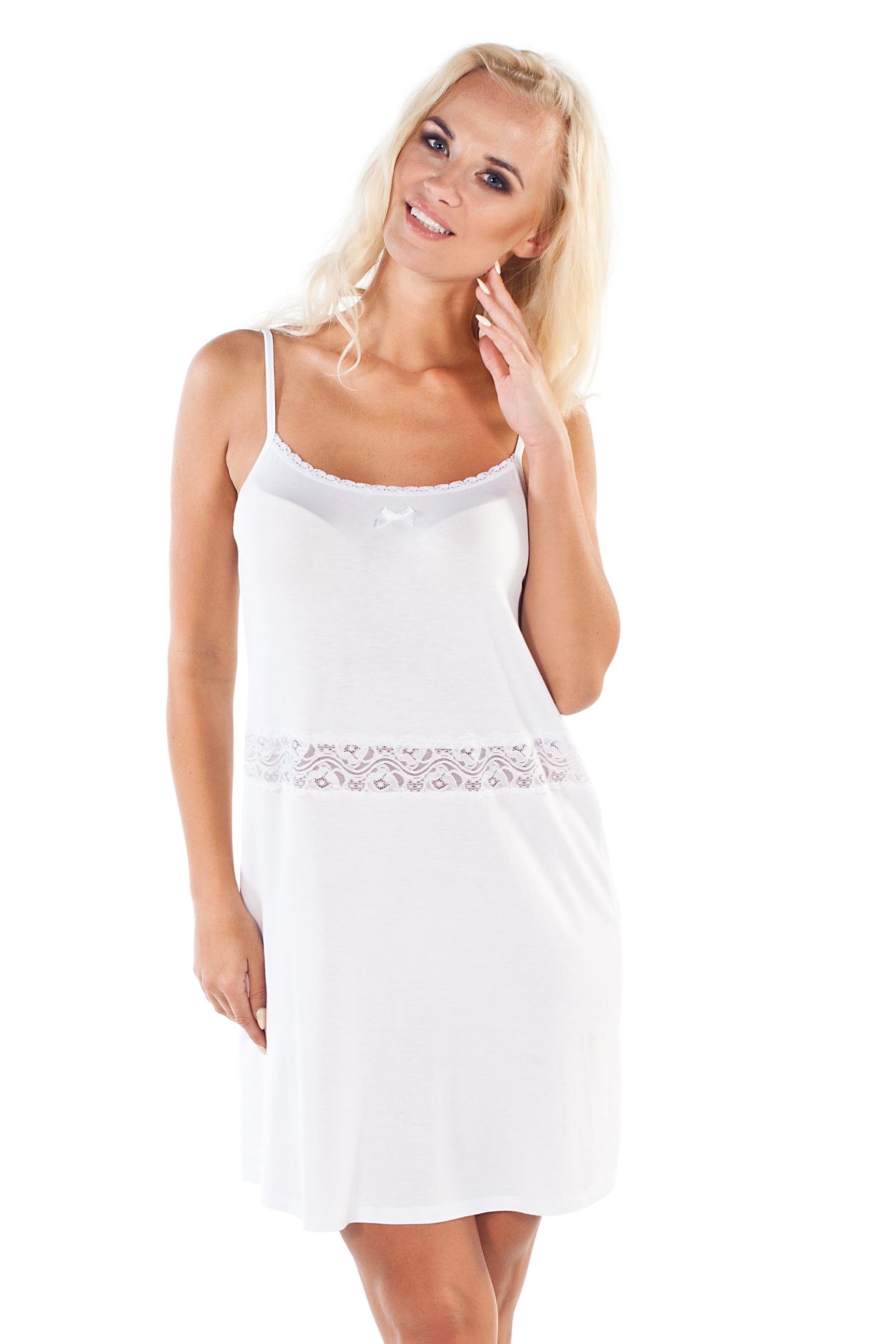 c435f0887719 Dámska nočná košieľka Madam biela - ELEGANT.sk