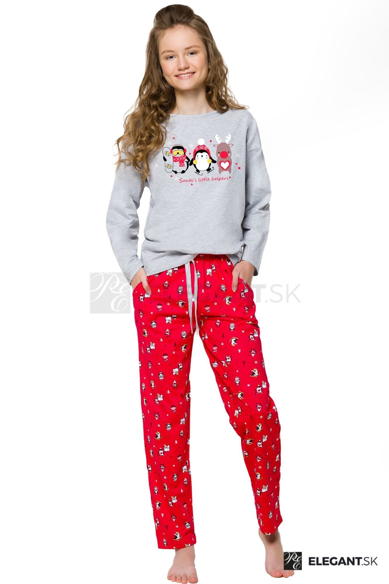 9b8815f8a63f Dievčenské pyžamo s tučniakom Nadia sivé - ELEGANT.sk